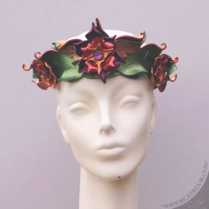leather flower crown