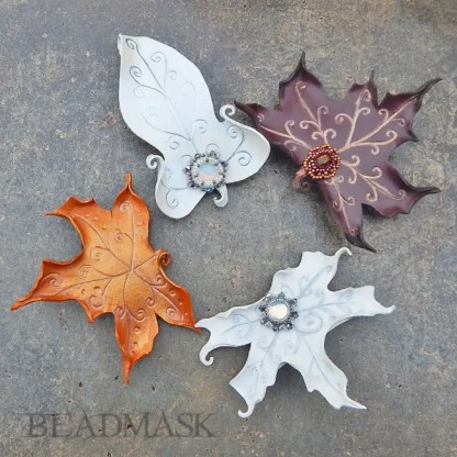 faerie leaf barrettes