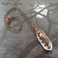 owl feather pendant