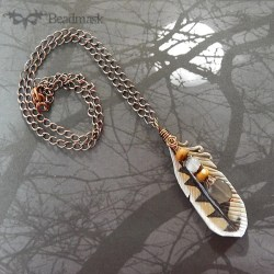 owl feather pendant