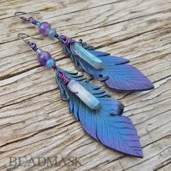 Kyanite Grackle Feathers