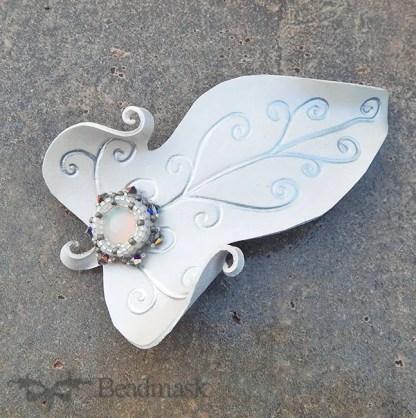 leather faerie leaf barrette