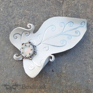 leather faerie leaf barrette