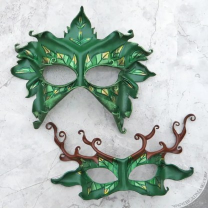 leafy leather masks