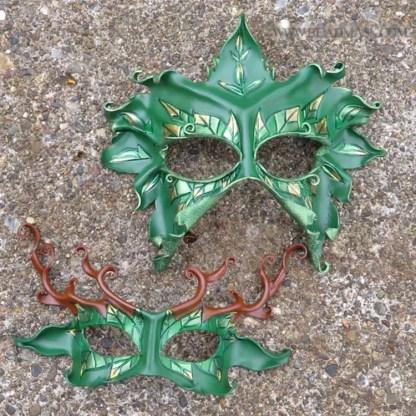 leafy leather masks