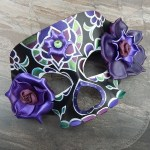 black and purple sugar skull mask