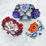 Day of the Dead themed leather masks