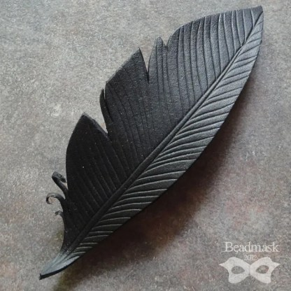 leather crow feathers