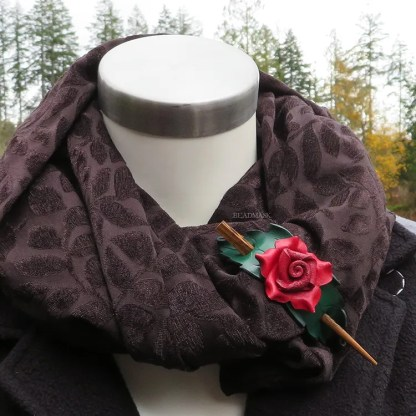 leather shawl clasp