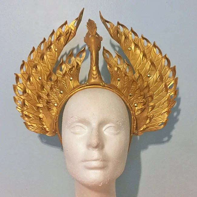 Lady Trieu leather headdress