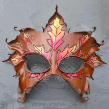 fall greenwoman leather mask