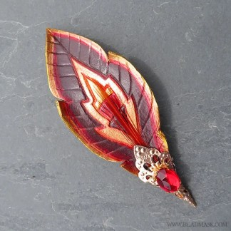 jeweled gryphon feather hair barrette