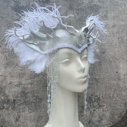 fantasy leather headpiece