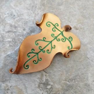 elvish leaf barrette