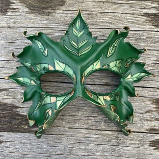 woodland leather mask