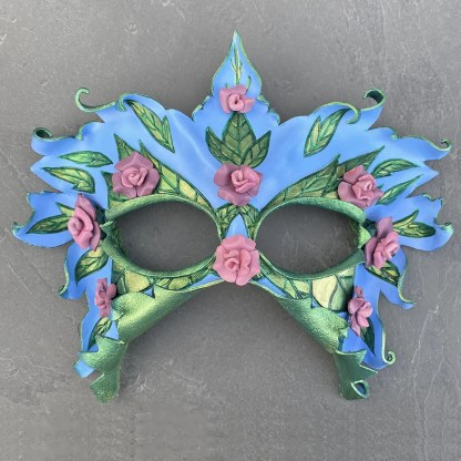 rose fairy leather mask