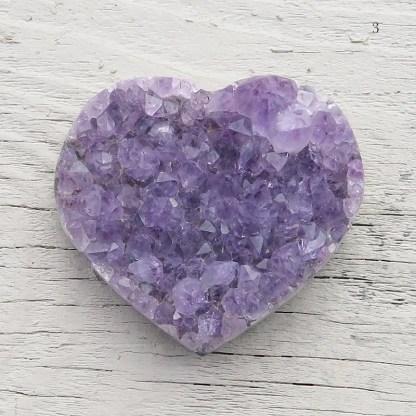 druzy amethyst crystal heart
