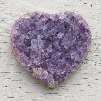 larger druzy amethyst crystal heart
