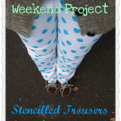 Weekend Project Stencilled Trousers