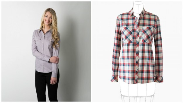 Sewaholic Granville, Grainline Archer or go down the lines of Lladybird and pick a shirt with princess seams..