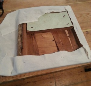 Recovering the seat - lining fabric