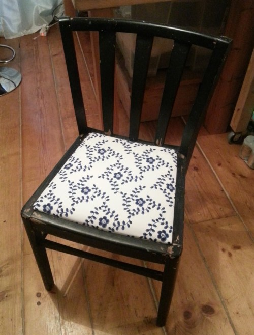 Ta Da! One vastly improved chair!