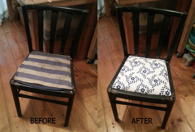 Before and After: Chair Recovering