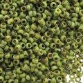Miyuki Round Seed Beads 15/0 Picasso Chartreuse Matte 8.2G