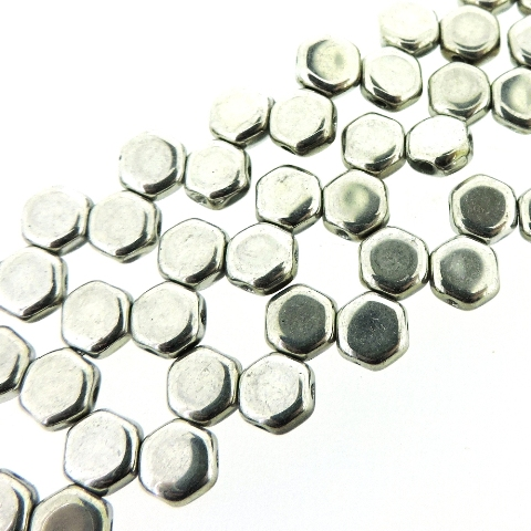 Czech Glass Honeycomb Beads 2-Hole 6mm 30 Pcs Full Labrador - Click Image to Close