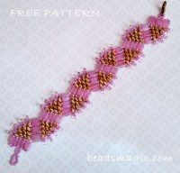 New Two-Hole DiamonDuo Beads--could be used in this beadsmagic pattern