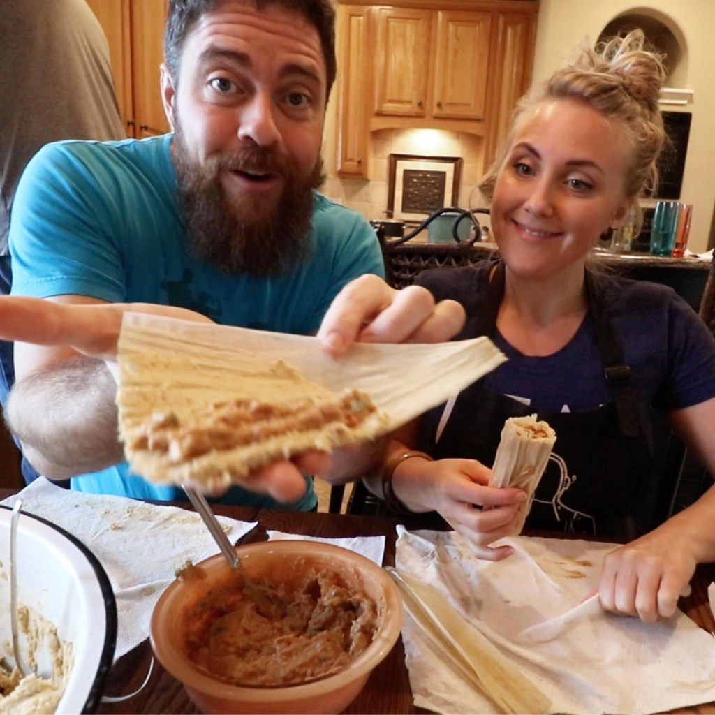 Pork Tamale Recipe - Brian and Erin Rolling Tamales
