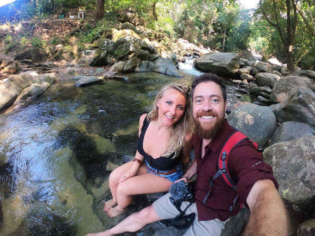 Pozo Azul, Minca Colombia - Brian and Erin
