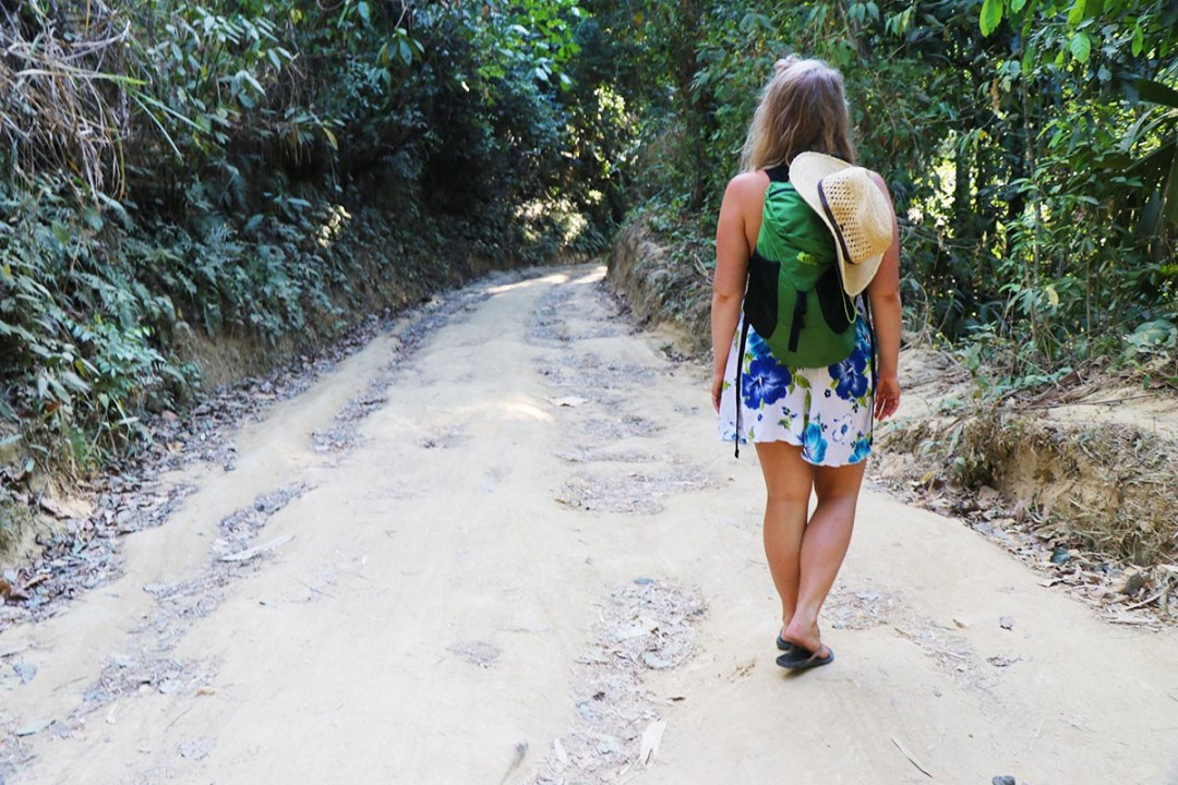 Pozo Azul - Erin Walking On Path