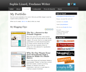 Sophie Lizard - Freelance Blogger Portfolio