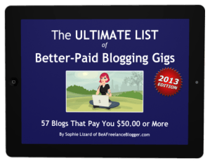 Ultimate list of better-paid blogging gigs