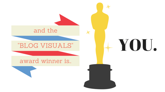 The blog visuals award winner is you!