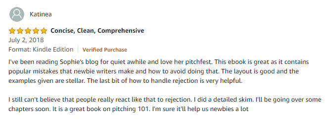 Another 5 star review of the book How to Pitch a Blog Post