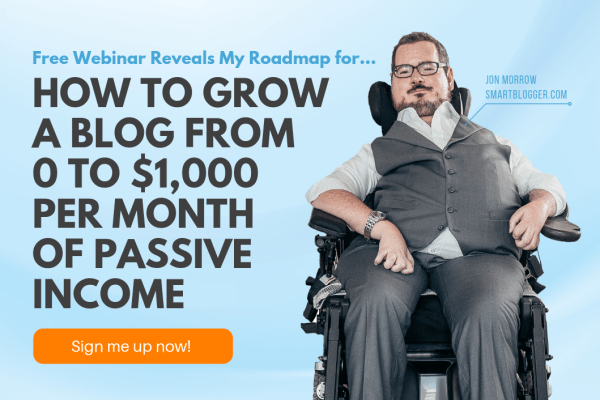 Make money blogging - free training with Jon Morrow