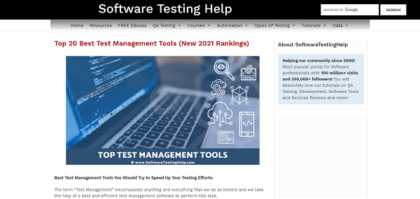 Software Testing Help blog pays writers for freelance tech writing jobs