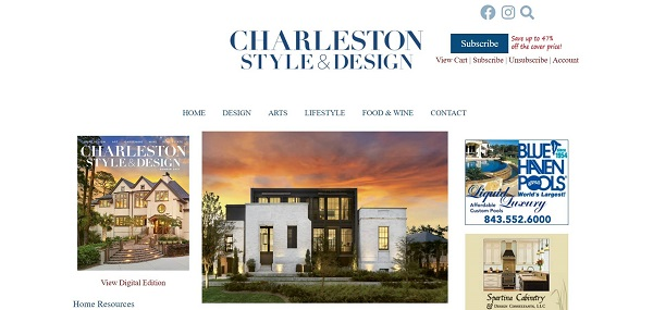 Charleston Style and Design magazine hires freelance writers for design writing jobs