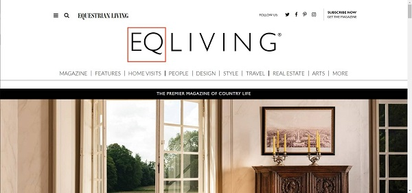 Equestrian Living magazine hires freelance writers for design writing jobs.