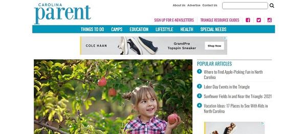 Carolina Parent magazine and blog pay freelance writers for food writing jobs