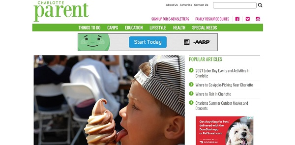Charlotte Parent magazine and blog hire writers for freelance food writing jobs