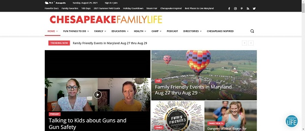 Chesapeake Family Life magazine and blog pay writers for freelance food writing jobs