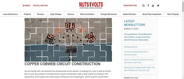 Nuts and Volts Magazine pays writers for freelance tech writing jobs