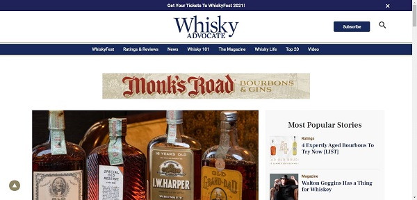 Whiskey Advocate pays writers for freelance drink writing gigs
