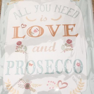 Metal Sign All I Need is  Love & Prosecco