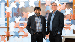 Co-founders Shah and Halligan of HubSpot