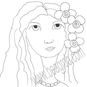flowerladysketch Kopie