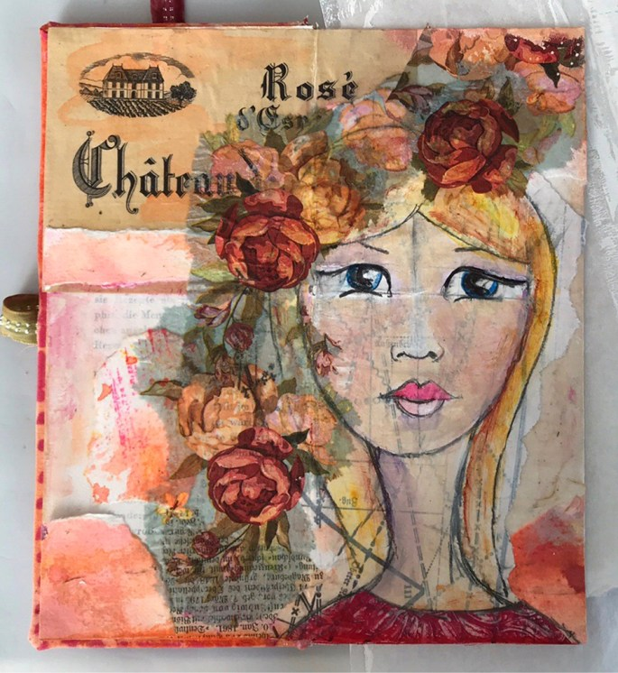 altered artjournal first page